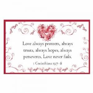 """1 Corinthians 13"" Pass-Around Cards"