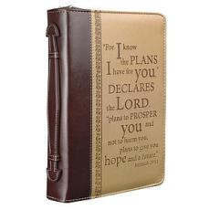 """I Know the Plans"" Two-Tone Large Bible Cover- Large"