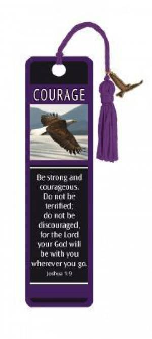 """Joshua 1:9"" Bookmarks w/ Charm"