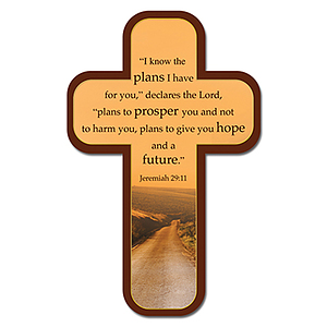 """I Know the Plans"" (Brown) Paper Cross Bookmark Pack of 12"