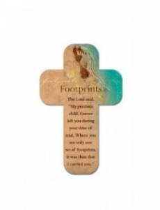 Footprints - Cross Magnet