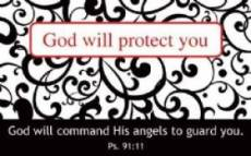 """God will protect you"" Pass-Around Cards"