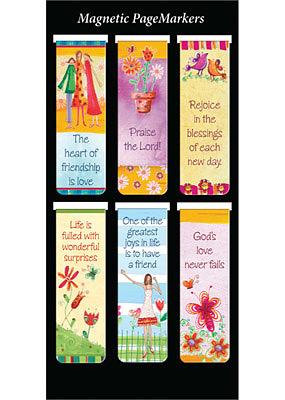 God's Love Never Fails Magnetic Page Markers - Pack of 6