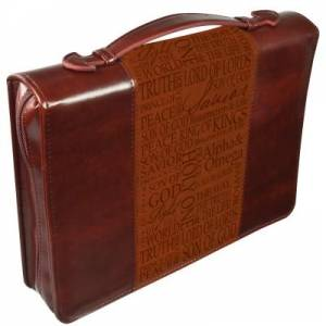 Names of Jesus (Brown) Two Tone LuxLeather Bible Cover- Large
