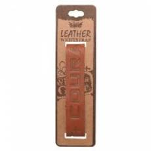 "Leather ""Courage"" Christian Wristband - Joshua 1:6"