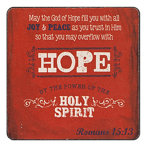 Hope Rom 15:13 Wood Magnet