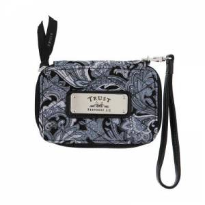 Gray Quilted Paisley All-in-One Wristlet w/