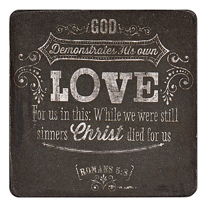 Love Rom 5:8 Wood Magnet