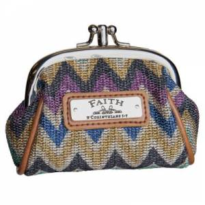Chevron Stripe Coin Purse w/