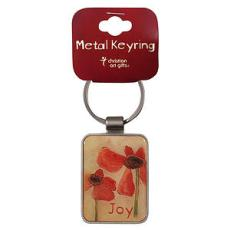 Joy Hab 3:18 Metal Keyring