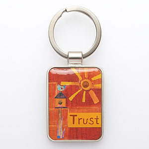 Trust Unfailing Love Metal Keyring