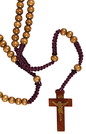Wooden Corded Rosary