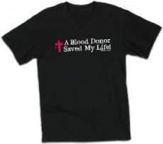 T-Shirt Blood Donor Black Large