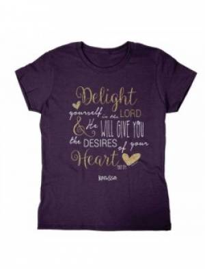 Delight in the Lord T Shirt: Adult Small