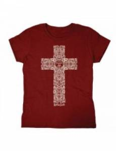 Engraved Cross T Shirt: Adult Large