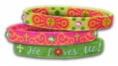 Stretch Bangles: He Loves Me