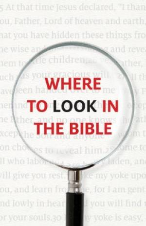 Where To Look In The Bible Tracts