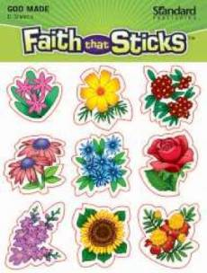 God Made Flowers Stickers