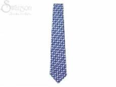 Tie: College Color Fish Bl/Wh