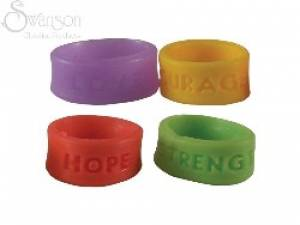 Rings Assorted Silicone Pk 25