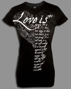 Love Is T Shirt Black Small