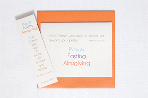 CARD SINGLE NOTE PRAYER FASTIN