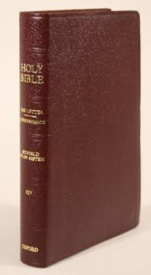 KJV Old Scofield Study Bible Classic Edition Bonded Leather Burgundy