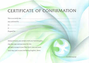 Certificate of Confirmation : Pack of 10