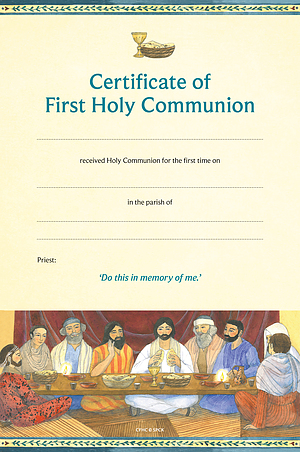 Certificate of First Holy Communion (Catholic) Pack of 10