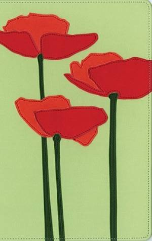 KJV Thinline Bloom Collection Compact Edition Bible - Poppies