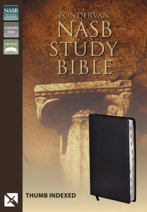NASB Study Bible: Black, Bonded Leather, Thumb Indexed