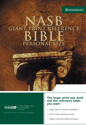 NASB Personal Size Reference Bible: Black, Bonded Leather, Giant Print