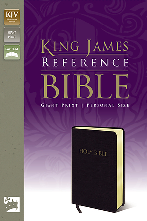 KJV Giant-Print Personal Sized Reference Bible: Black, Bonded Leather, Thumb Indexed