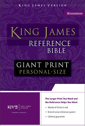 KJV Personal Size Reference Bible: Burgundy, Imitation Leather, Giant Print