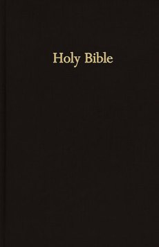 KJV Pew Bible: Black, Hardback, Large Print