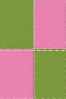 KJV Thinline Bible: Meadow Green & Pink, Imitation Leather, Large Print