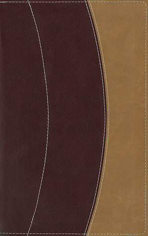 KJV Thinline Bible: Burgundy & Camel, Italian Duo Tone, Large Print