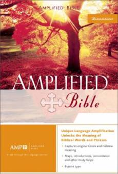 Amplified Bible: Burgundy, Top Grain Leather