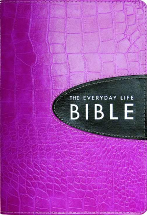 Everyday Life Bible: Bold Pink, Bonded Leather