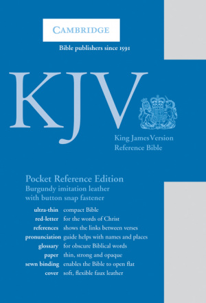 KJV Pocket Reference Edition: Burgundy, Imitation Leather, with Flap Fastener