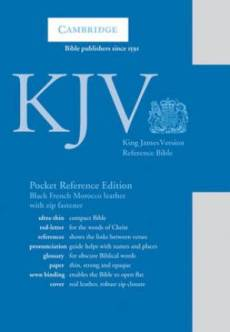 KJV Pocket Reference Edition: Black, French Morocco Leather, with Zip Fastener