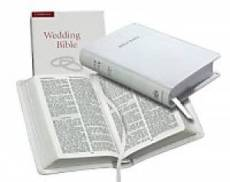 KJV Wedding Bible:  White, French Morocco leather