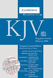 KJV Personal Size Concord Reference Bible: Black, French Morocco Leather