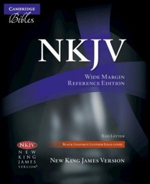 NKJV Wide Margin Reference Bible: Black, Goatskin Leather