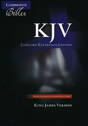 KJV Concord Reference Bible: Black, Goatskin Leather