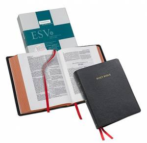 ESV Wide Margin Reference Bible: Black, Goatskin Leather