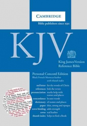KJV Personal Concord Reference Bible: Black, French Morocco Leather, Thumb Index
