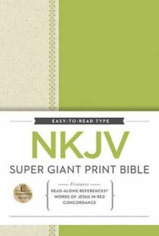 NKJV Super Giant Print Ref Bible Hardback Green