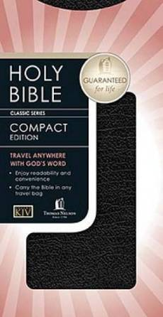 KJV Classic Companion Bible Chequebook Size Bonded Leather Black