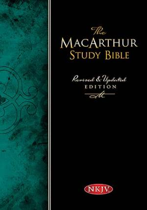NKJV MacArthur Study Bible: Black,  Bonded Leather, Thumb Indexed